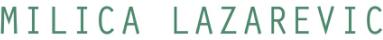 milicalazarevic.com Logo